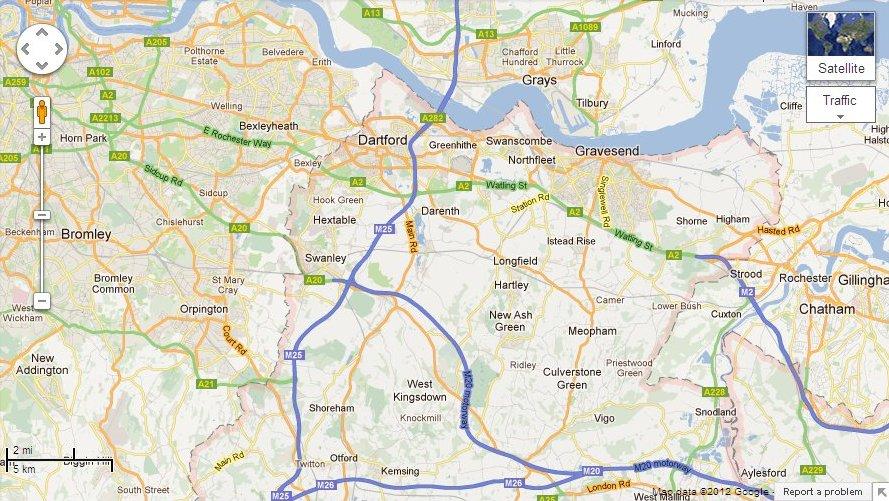 map Kent